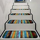 YHLVE Anti-Rutsch, waschbar, Teppich-Stufenmatten, rutschfeste Unterseite aus Gummi, spezielles, 70x 22x 1cm, Holz, für Innen und Außen