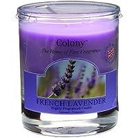 Preisvergleich für Duftkerze im Glas French Laven, Wachs, violett, 8.2cm x 7cm x 7cm