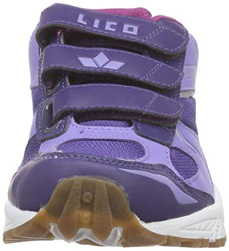 Lico Bob V, Chaussures Multisport Indoor fille Violet - Violett (lila/silber)