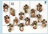 Imanes de resina Juego 14estaciones Via Crucis–Imanes Pascua–tamaño cm. 8x 5,5Belén Pascua
