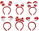 (Packung mit 6) Frauen Mädchen Nette Weihnachten Stirnband Dekoration Weihnachtsmann Schneemann Festival Haarband Zubehör Weihnachtsgeschenk