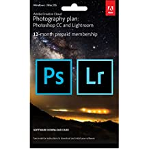 Adobe Creative Cloud Photography plan 20GB: Photoshop + Lightroom | 1 Year | PC/Mac | Key Card & Download