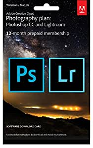 Adobe Creative Cloud Photography Plan: Photoshop CC Plus Lightroom - 12-Month Licence - Key Card (PC/Mac)