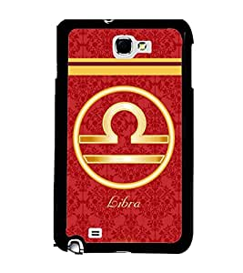 Printvisa 2D Printed Sunsign Libra Designer back case cover for Samsung Galaxy Note 1 - D4399