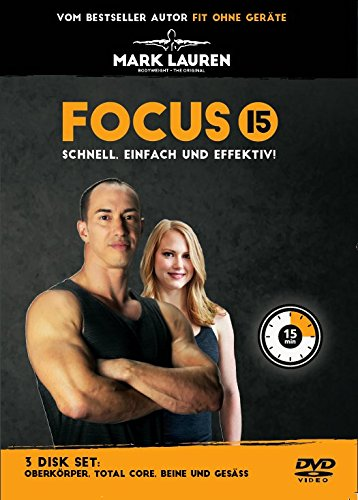 Preisvergleich Produktbild Mark Lauren 3 DVD-Set | Focus 15 | Das Ultimative Workout-DVD-Set