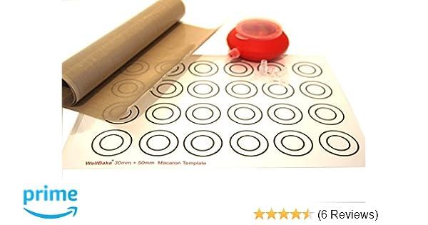 Macaron Circle Template Wellbake Profiteroles Kit 1m Baking Liner Roll 100cm X