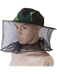 Sombrero Protección Repelente Mosquito Abeja Insecto Malla Cara Protector