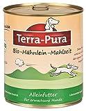 Bio-Hähnleinmahlzeit für Hunde 800g Dose x 6 Terra Pura