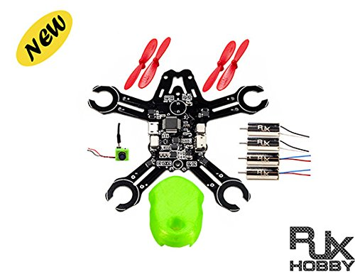 RJXHOBBY QX95 95mm Micro FPV Racing Quadcopter Camare included Based On F3 EVO Brushed Flight Controller Mini Quadcopter Drone (Unassembled)