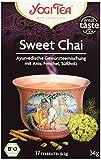 Yogi Tea Bio Tee Sweet Chai Ayurvedische Gewürzteemischung mit Anis, Fenchel und Süßholz, 17 Teebeutel, 34 g