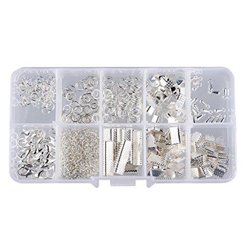 Verbindungsringe Schmuckherstellung Set Starter Kit Ohrring Armband Halsketten Schmucksachen - Silber, 5MM-20MM