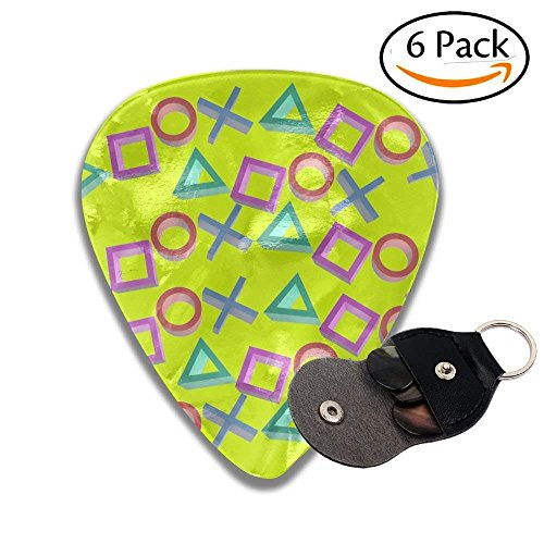 Playstation Gamer Sampler Guitar Picks - 6 Pack Complete Gift Set For Guitarist Best Gift For Guitarist (Picks Playstation)
