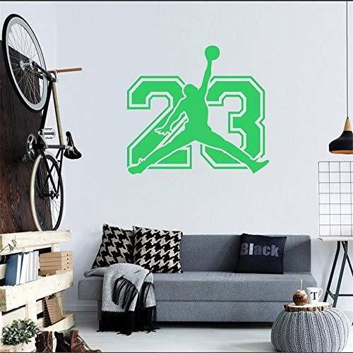 Wandtattoo - Jordanien 23 Zeichen Aufkleber - Basketball Jump Man Vinyl Wall Decor 57 * 52cm