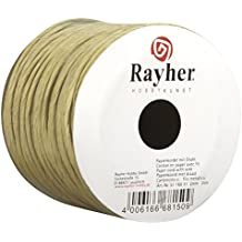 Rayher Hobby 5116031  Papierkordel mit Draht, 2 mm, Rolle 25 m, natur