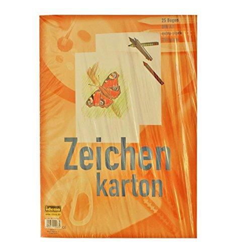 Preisvergleich Produktbild Idena 212063 Zeichenkarton extra stark, DIN A3, 250 g / m², 25 Bogen