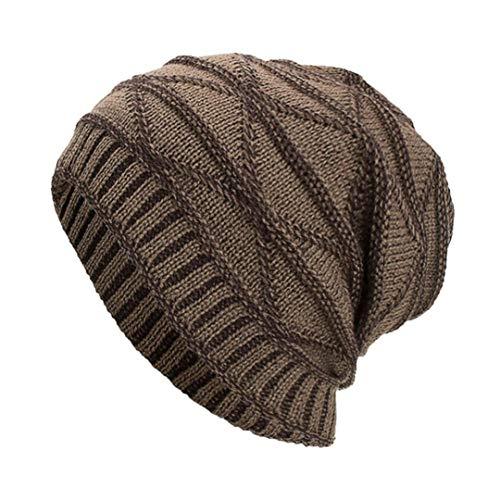 Celucke BeanieHerren Frauen Männer Caps Hüte Mützen Warm Ausgebeult Häkeln Crochet Winter Wolle Stricken Ski Skull - Stricken Jordan Hut