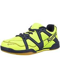 Kempa Team Zapatillas de Baloncesto, Unisex niños, Amarillo pálido/Azul Marino, 30