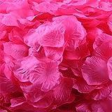 Longra 500PC Stück Rosenblüte Silk künstliche Blumen Blätter Rosen Blumenblatt Hochzeitsfest Dekorationen Valentinstag romatische Überraschung Rosenblätter (Watermelon Red)