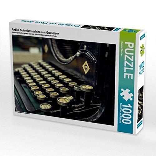 Antiquitäten Puzzle (Antike Schreibmaschine aus Gusseisen 1000 Teile Puzzle quer: Nostalgisches Bild alter Bürotechnik (CALVENDO Hobbys))
