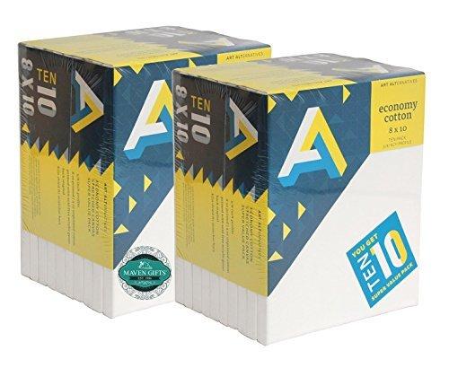 Maven Geschenke: AA Wirtschaft Super Leinwand 20Pack 8x 10 -