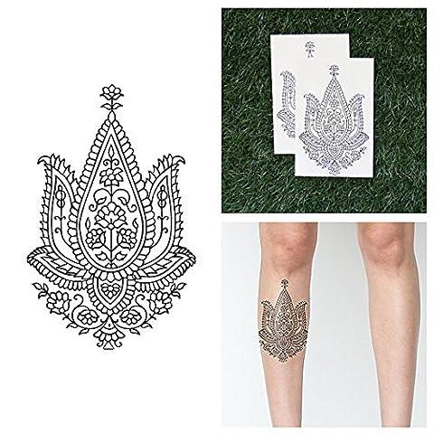 Tattify Cute Line Drawing Lotus Temporary Tattoo - Guiding Light
