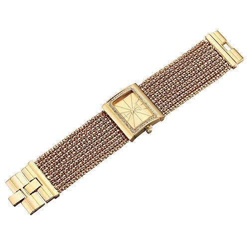 Lightinthebox Damen Uhr Armband im Diamant Stil Uhren Armbanduhr (Gold)