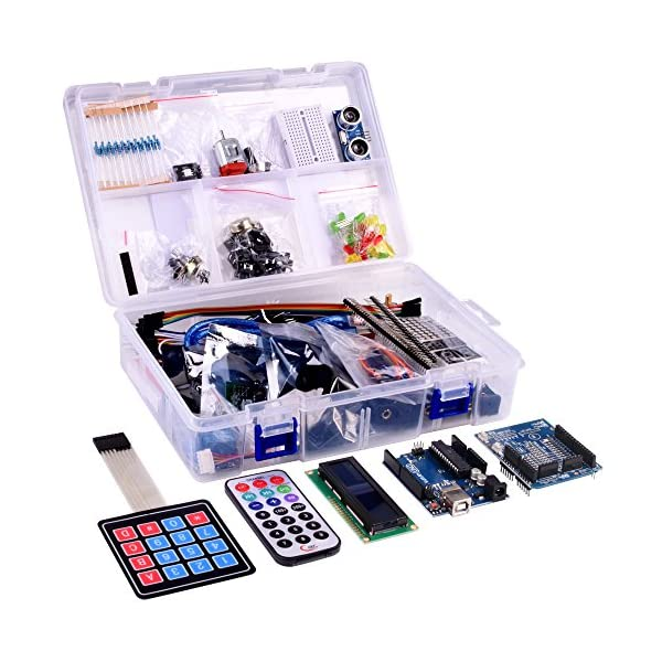 51um2qh24CL. SS600  - Kuman New Arduino Components with UNO R3 LCD servo Ultimate Starter RFID Learning Kit for Arduino UNO Nano Learners Beginner, Complete 48 Set Kits K25