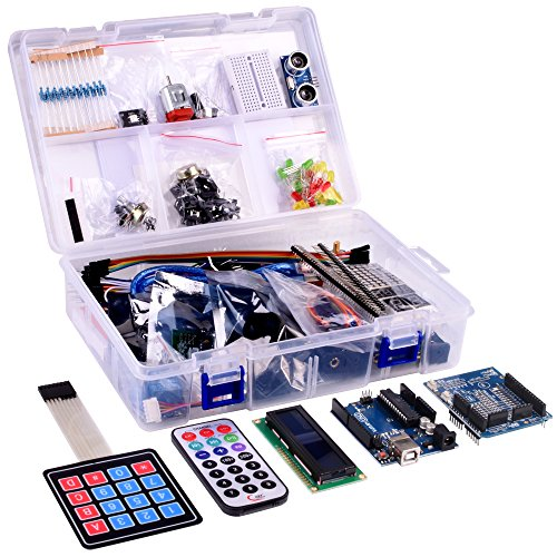 51um2qh24CL - Kuman NEW Arduino Components With UNO R3 LCD servo Ultimate Starter RFID Learning Kit for Arduino UNO Nano Learners beginner, Complete 48 Set kits K25