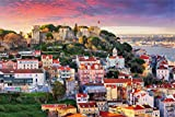 Lissabon City Skyline Art XXL Wandbild Kunstdruck Foto