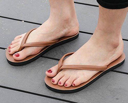 Sentao Unisex Adulto Infradito Flip Flops Comodo Sandali per Spiaggia e Piscina Marrone