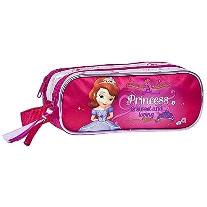 Disney Neceser de Viaje, Estuche Princesa Sofia, Fucsia