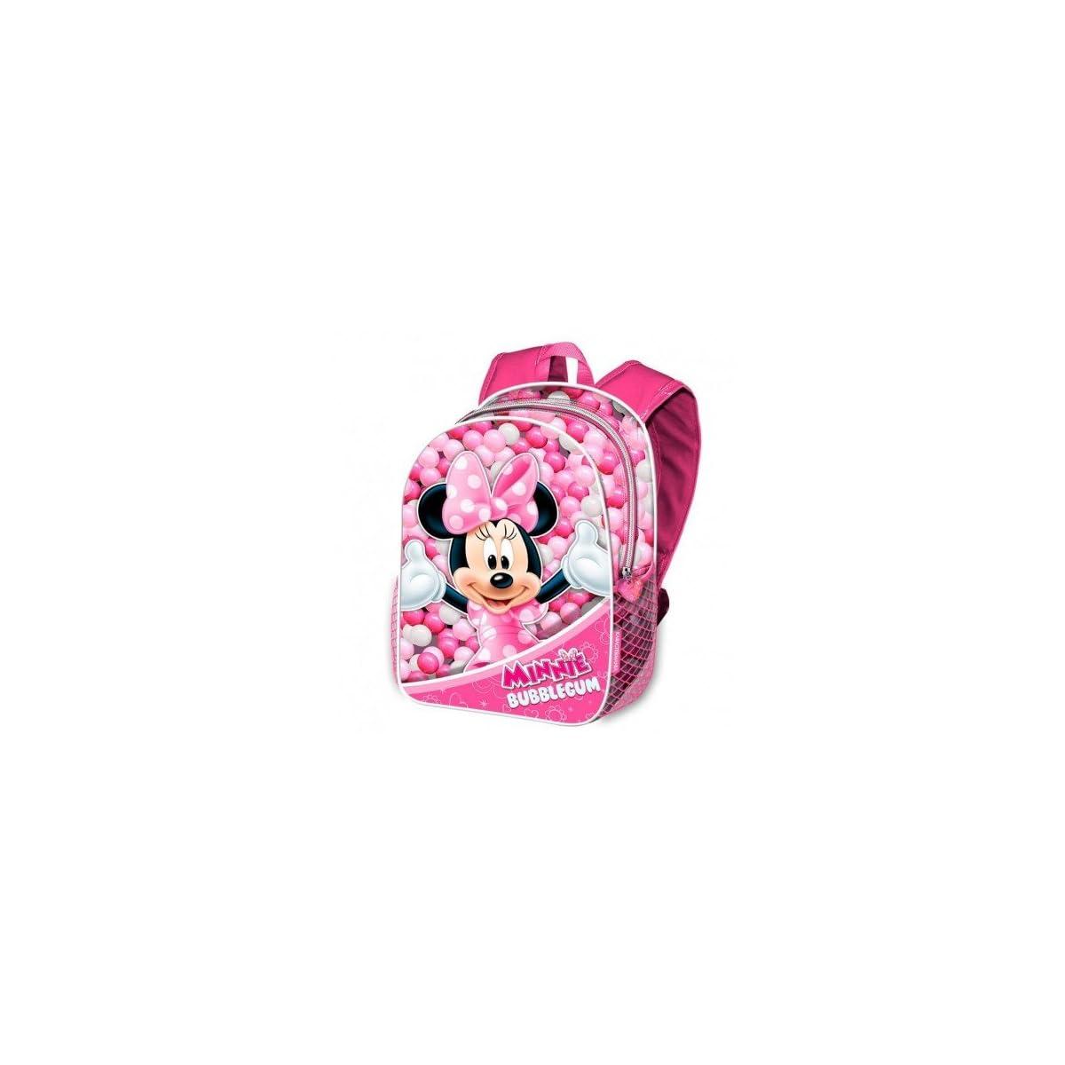 51um4KLbJuL. SS1200  - Karactermania Minnie Mouse Bubblegum Mochilas Infantiles, 40 cm, Rosa