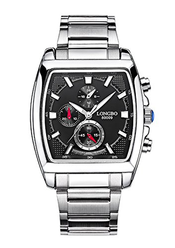 Autulet Herren Chronograph Analoges Quarzwerk Watches with Edelstahl Uhrenarmband -