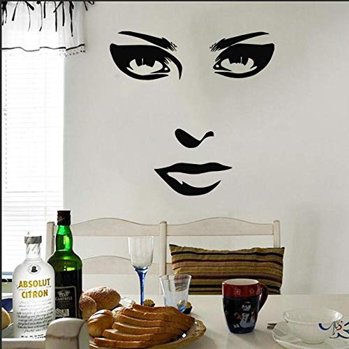 TMAJS Wandaufkleber Entfernbare Wandaufkleber Gesichtszüge Wandbilder Weibliche Kunst Wohnzimmer Schlafzimmer Home Dekorative Wandtattoos Y13
