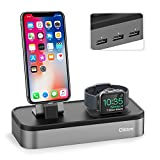 Oittm 5 USB Ladestation für iPhone und Apple Watch Series 3/ Apple Watch Series 3 with Cellular/...