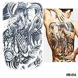 adgkitb 2 stücke Voller Rücken Brust Tattoo Tattoo Aufkleber Fisch Wolf Tiger Drache Wasserdicht Temporäre Tattoos Coole Männer Frauen MB 0016 48x34 cm