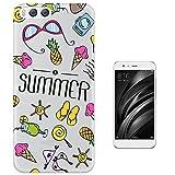 c01215 - Summer Bikini Sunglasses Flip Flops Ice cream Sun Beach Collage Design Xiaomi Mi 6 Fashion Trend Protecteur Coque Gel Rubber Silicone protection Case Coque