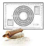 Kurtzy Silikon Ausrollmatte Antihaftende Gebäck Matte 60 x 40 cm,  Weiß