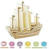 lychee Trousse de Construction de Puzzle en Bois 3D, modèle de Navire de Bricolage Ancien Navire (BA401)