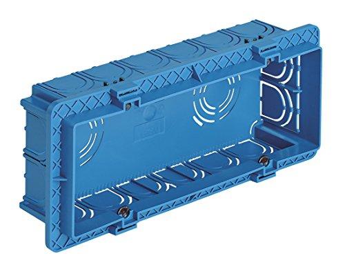 Vimar - Caja empotrable rectangular 6 módulo azul