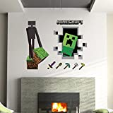 Minecraft Wandtattoo Wallsticker Sticker Creeper + Endermann