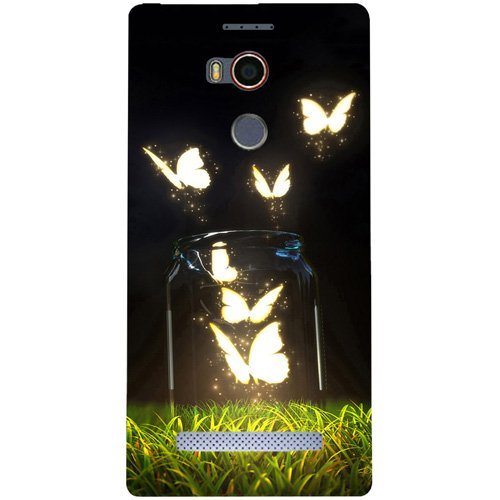 Casotec Butterfly Design Hard Back Case Cover for Gionee Elife E8  available at amazon for Rs.399