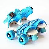 FunBlast Adjustable Quad Roller Skates for Kids (Blue)