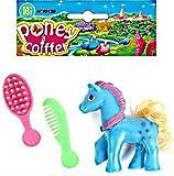 3 Stück Kämmpony ca. 6 cm Kinder Spielzeug Pony mit Kamm und Bürste Mitgebsel