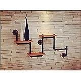 Minzhu Estante Exquisito Pipas Creativas de los Muebles de Las tuberías de la Sepia montados en