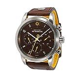 Daye/Turner Herren Uhr Analog Quarz mit Leder Armband DT-43MW67BW-33DB