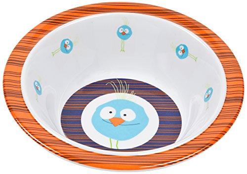 Lässig Dish Bow Melamin Schüssel aus 100% Melamin BPA-frei und rutschfest, Wildlife Birdie