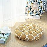 YU&AN Baumwoll-Leinen Stuhl Kissen,Runde Sitzfläche Esszimmerstuhl Büro-sitzpolster Für Wohnheim Wohnzimmer Schlafzimmer-B Diameter58x8cm(23x3inch)