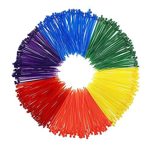 600 pezzi fascette per cablaggio fermacavo fascette stringicavo colorate elettricista nylon cavi stringicavo, 3 * 150mm