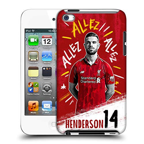 Offizielle Liverpool Football Club Jordan Henderson 2018/19 Erstes Team Gruppe 1 Harte Rueckseiten Huelle kompatibel mit Apple iPod Touch 4G 4th Gen